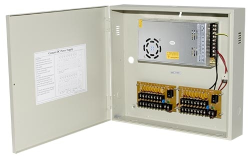 12vdc 16 Channel 25 Amp Security Camera Power Supply Box