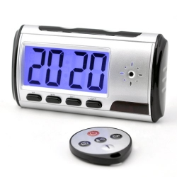 Mini Motion Detection Alarm Clock Camera