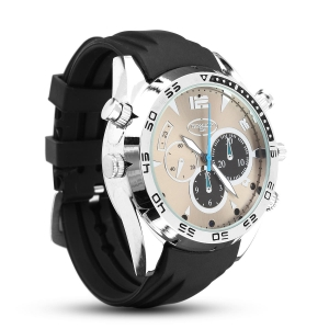 Night Vision Silver Elegant Wrist Watch With 1080P HD Camera