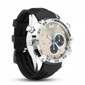 Silver Metal Elegant Wrist Watch With 1080P HD Night Vision Camera