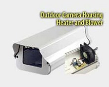 Security Camera Housing With Heater Blower & Mounting Bracket