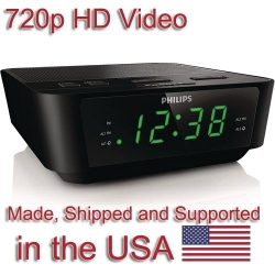 720P HD Alarm Clock Radio Camera