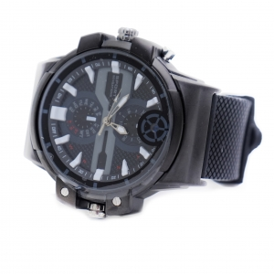 Black Functional Dress Wrist Watch With 2K HD Camera