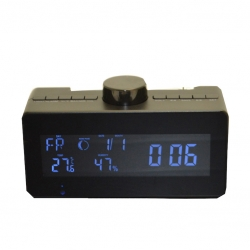 Mini Gadgets Radio Clock With Rotating Lens 1080P HD Wifi Camera