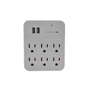 Electrical Wall Outlet Adapter Six Prong Plug With 1080P HD Camera