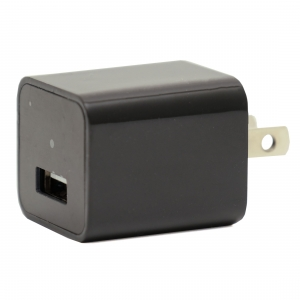 Smartphone USB Wall Adapter Black Charger With 1080P HD Camera