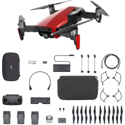 DJI Mavic Air 4K 12MP Fly More Combo Aerial Drone Red