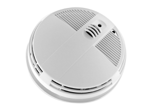 Alarm Smoke Detector With 4K UHD Bottom View Night Vision Camera