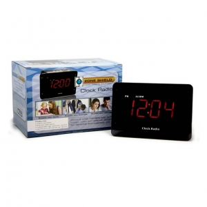 Household Radio Alarm Clock With 4K UHD Night Vision Camera