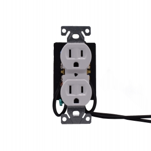 Hardwired Outlet Power Receptacle With 4K UHD Wifi Camera