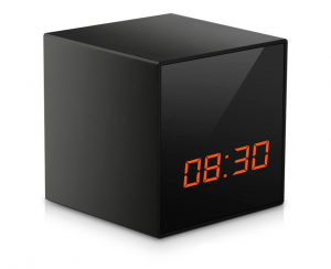 Cube Radio Clock With 4K UHD No Red Glow Night Vision Wifi Camera