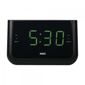 RCA Clock Alarm Radio Charging Station With 4K UHD Wifi Camera