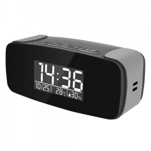 Night Vision Miniature Alarm Clock With 1080P HD Wifi Camera