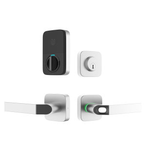 Ultraloq Combo Fingerprint Bluetooth Keyless Smart Lever Door Lock Satin Nickel