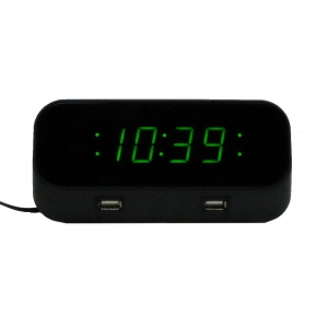 Desktop Alarm Clock With 1080P HD Wifi Night Vision Camera