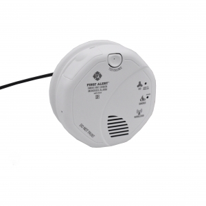 Smoke Alarm Detector With 4K UHD Wifi Night Vision Camera