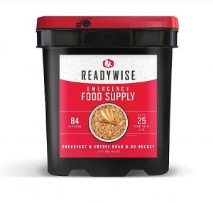 ReadyWise 84 Servings Breakfast Entree Emergency Survival Camping Food Bucket