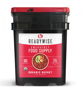 ReadyWise 90 Serving Organic Emergency Survival Food Storage Camping Bucket