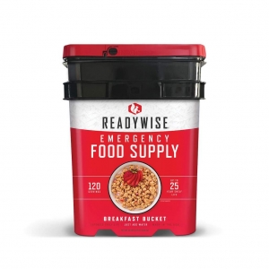 ReadyWise 120 Serving Breakfast Emergency Survival Food Storage Bucket