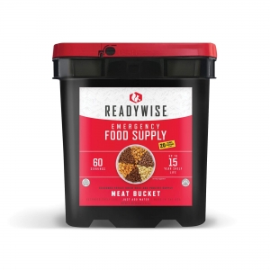 ReadyWise 60 Serving Freeze Dried Emergency Survival Food Storage Meat Bucket