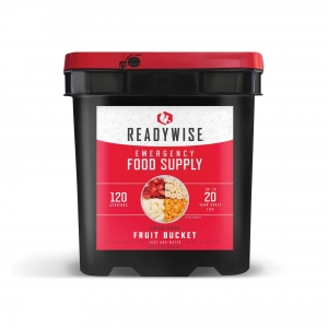 ReadyWise 120 Serving Emergency Survival Freeze Dried Fruit Food Storage Bucket