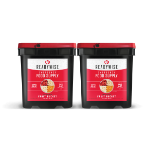 ReadyWise 240 Serving Emergency Survival Food Supply Camping Fruit Buckets