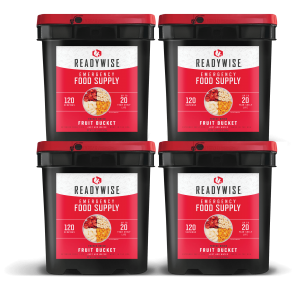 ReadyWise 480 Serving Emergency Survival Food Supply Freeze Dried Fruit Buckets