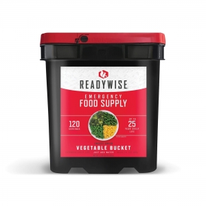 ReadyWise 120 Serving Emergency Survival Food Storage Freeze Dried Vegetable Bucket