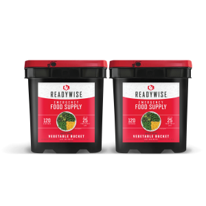 ReadyWise 240 Serving Emergency Survival Freeze Dried Food Supply Vegetable Buckets