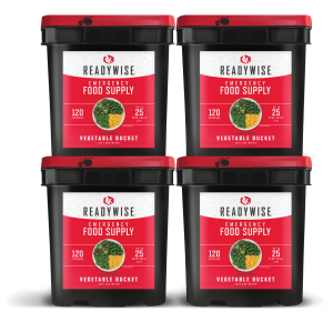 ReadyWise 480 Serving Emergency Survival Food Supply Freeze Dried Vegetable Buckets