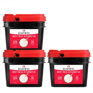 ReadyWise 360 Serving Emergency Survival Whey Milk Camping Food Buckets