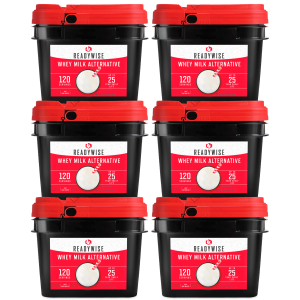 ReadyWise 720 Serving Emergency Survival Whey Milk Camping Food Buckets