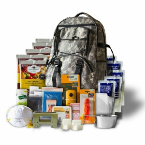 ReadyWise 64 Piece Emergency Survival Camo Medical Supplies Food Backpack