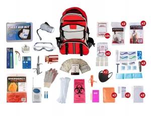 72+ Hour 2 Person Elite Emergency Survival Prepper Gear Camping Backpack Kit